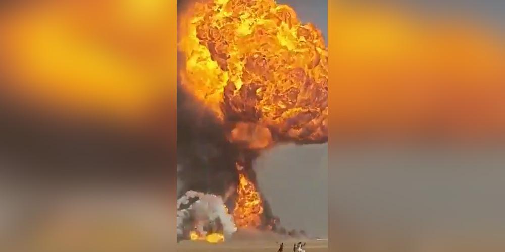В Афганистане засняли на видео десятки взрывающихся бензовозов