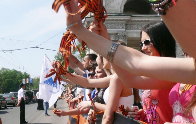 За ношение георгиевской ленты в Молдавии будут наказывать