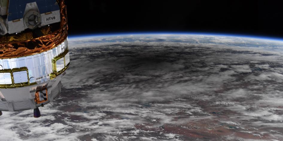 Астронавт показал солнечное затмение с борта МКС