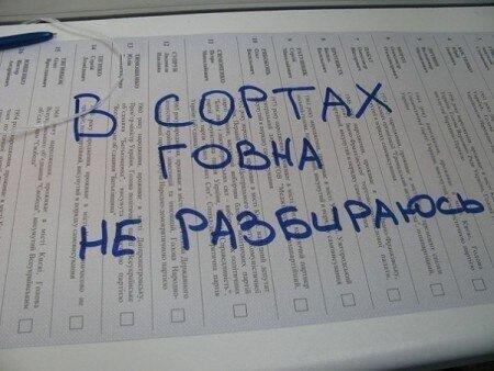Цэ выборы: подборка бюллетеней с Украины