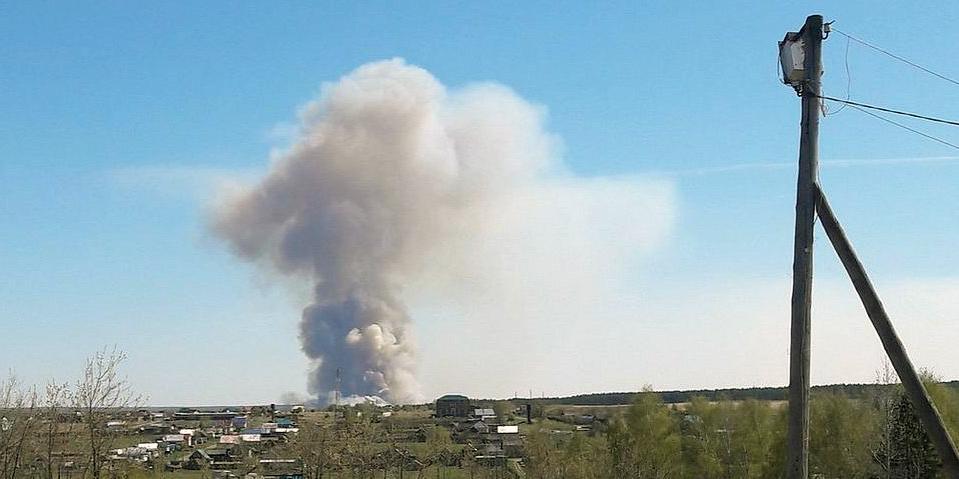 В Удмуртии из-за пала травы начались взрывы боеприпасов