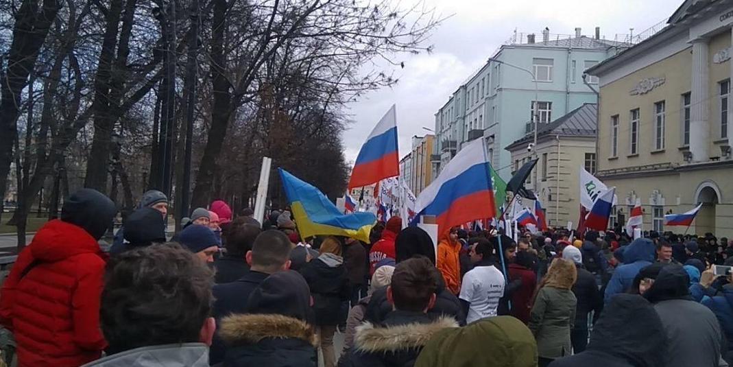 МВД: на марш Немцова в Москве пришло около 8 тысяч человек