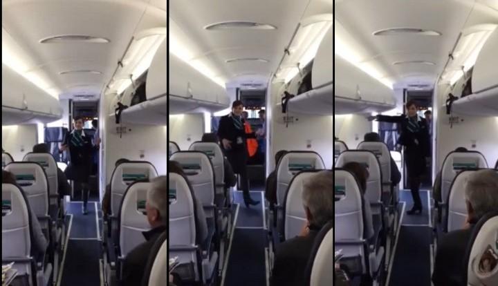 Танцующая стюардесса стала хитом Youtube (ВИДЕО)