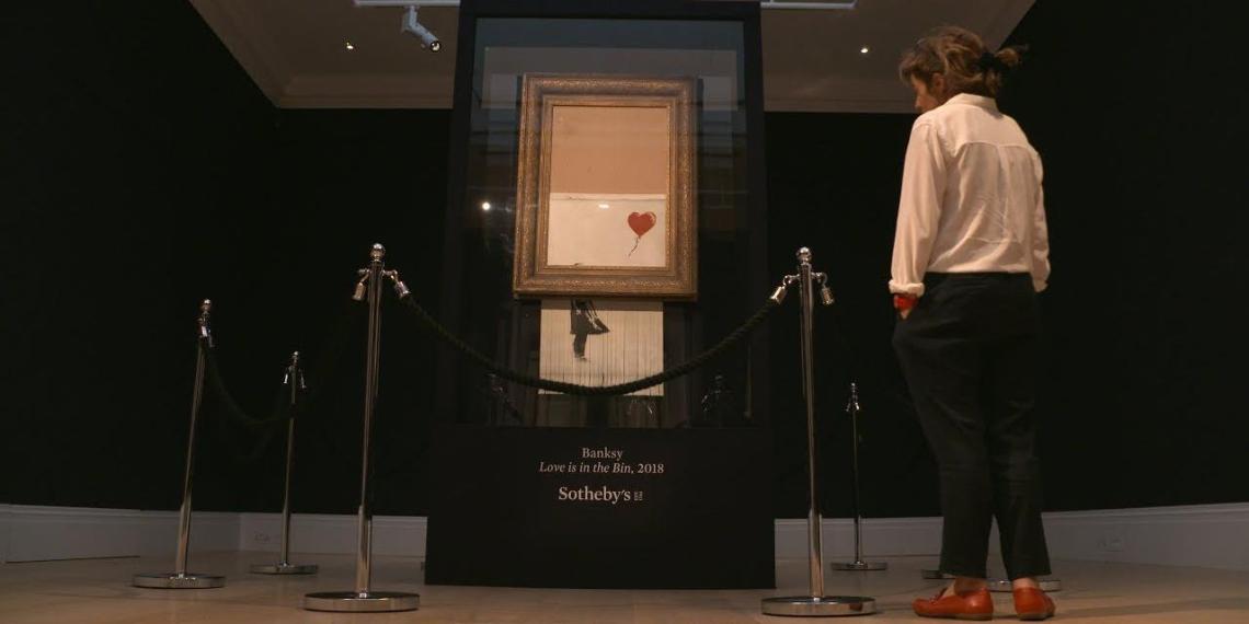 Наполовину испорченную картину Бэнкси продали за рекордные для художника $25 млн