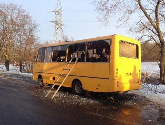 Ополченцы не вели огонь в Донбассе, где был обстрелян автобус