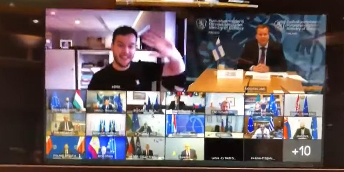 Голландский журналист взломал онлайн-встречу глав Минобороны стран ЕС