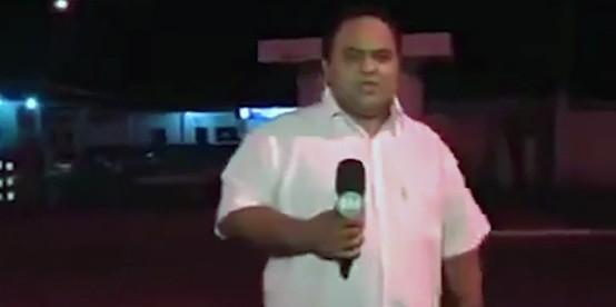 Репортер в прямом эфире предсказал ДТП за секунду до аварии