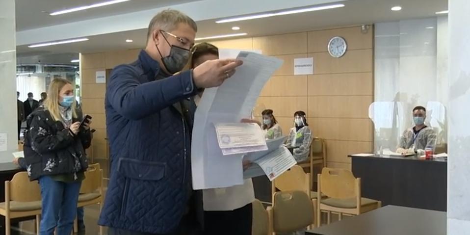 Глава Башкирии проголосовал на выборах в Госдуму