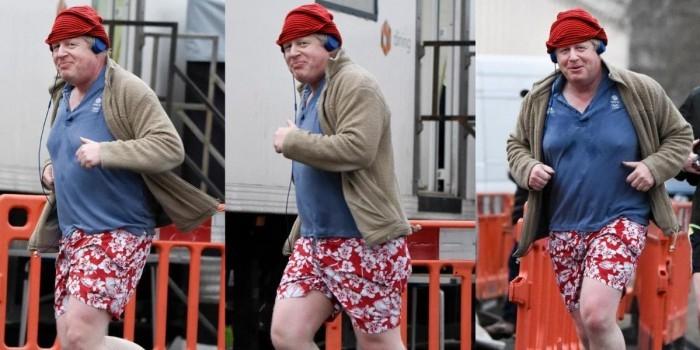 Главу британского МИД засняли за пробежкой в красных трусах