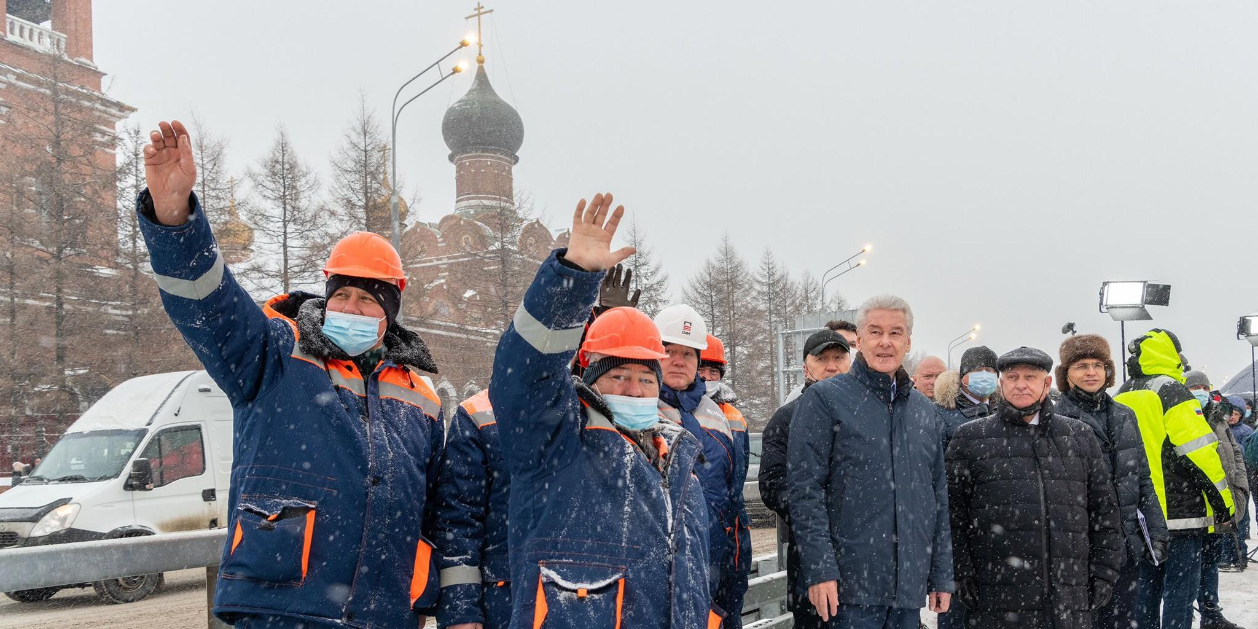 Собянин открыл развязку на пересечении МКАД с Волоколамским шоссе