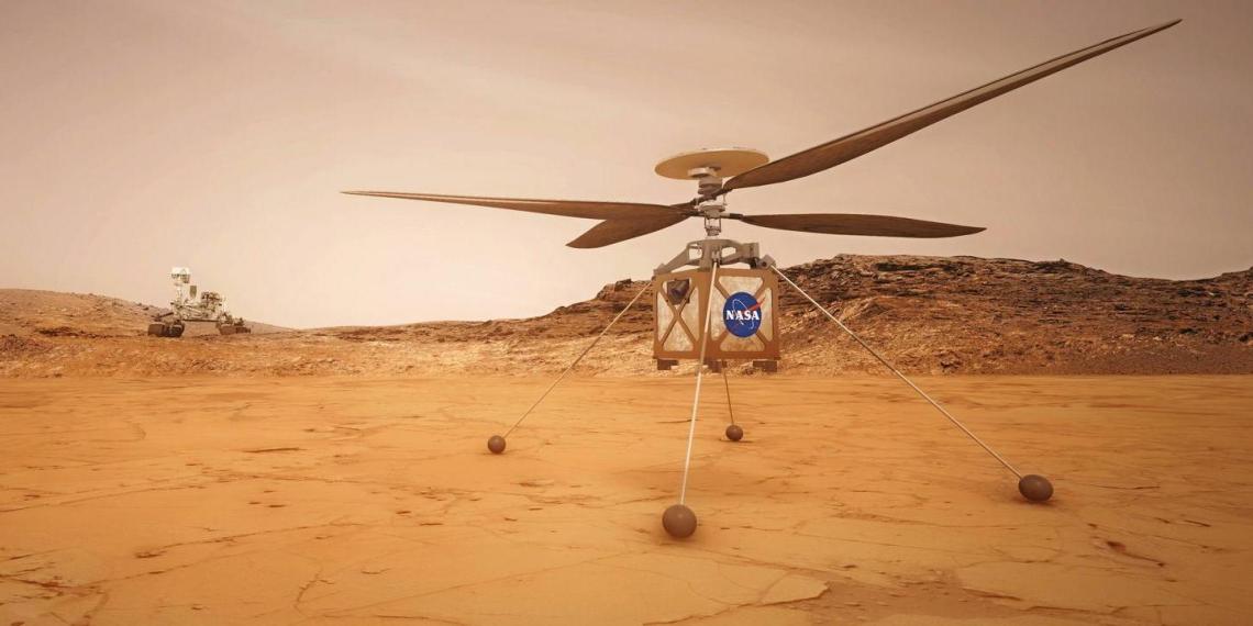 Марсианский вертолет Ingenuity совершил свой второй успешный полет