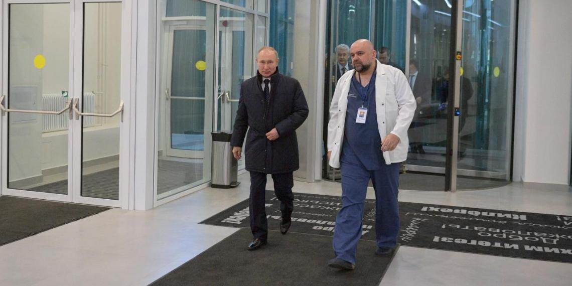 Президент Путин прибыл в больницу в Коммунарке