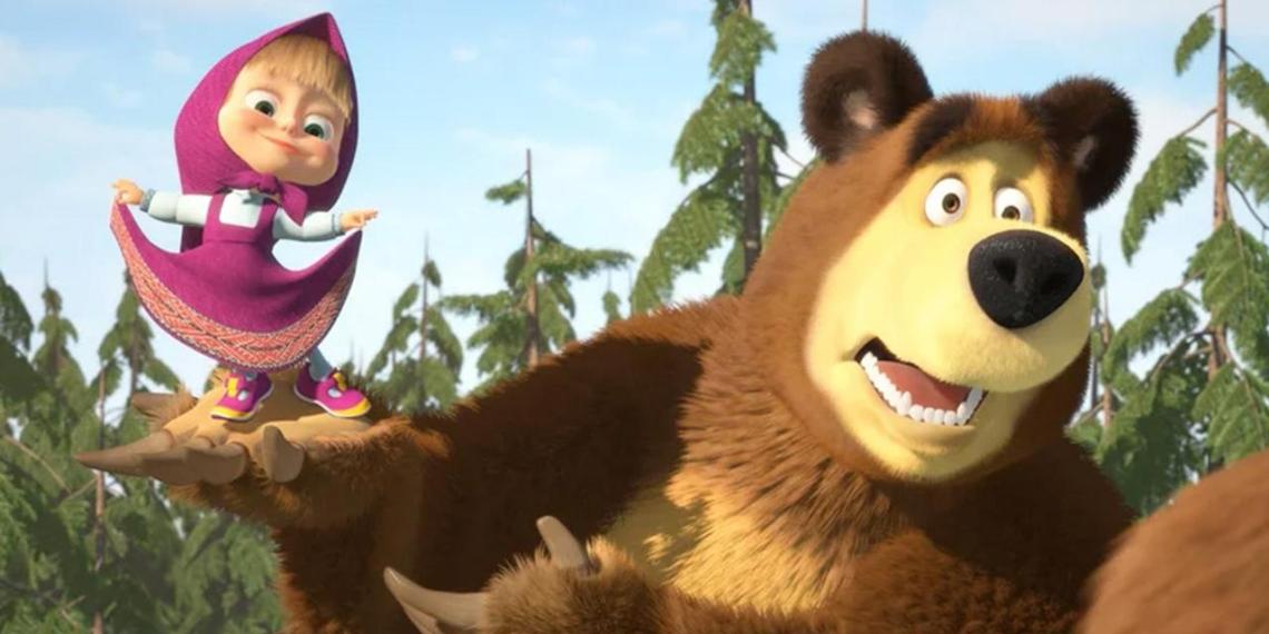 """Российский мультсериал """"Маша и Медведь"""" назвали самым популярным среди детей мира"""