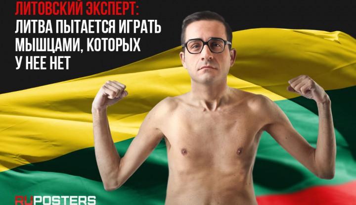 Литовский эксперт: Литва пытается играть мышцами, которых у нее нет