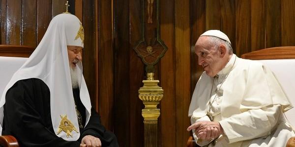 Однополые браки, Сирия и Украина: что обсуждали патриарх Кирилл и папа римский Франциск