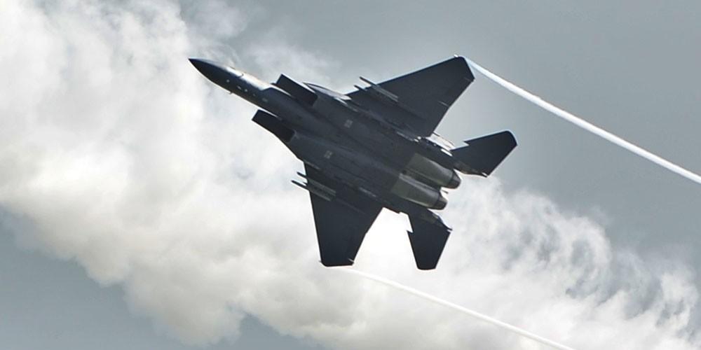 Американский F-15 упал в Северное море у берегов Англии