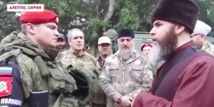 В Чечне показали видео обращения в ислам российского военнослужащего в Сирии