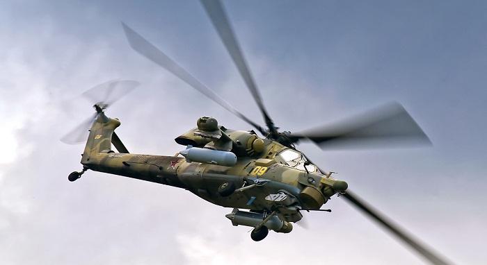 На Кубани военные подняли в воздух ударные вертолеты