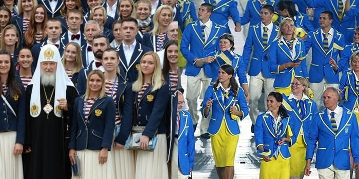 Форма олимпийской сборной России оказалась схожей с украинской 2008 года