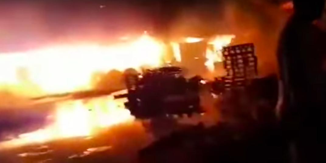 Опубликовано видео последствий удара Израиля по Сирии