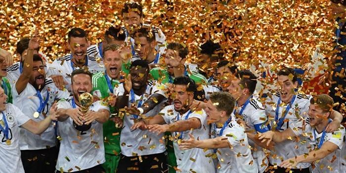 Сборная Германии по футболу впервые в истории завоевала Кубок конфедераций