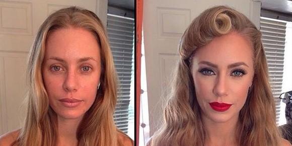 Как выглядят модели Playboy до и после нанесения макияжа