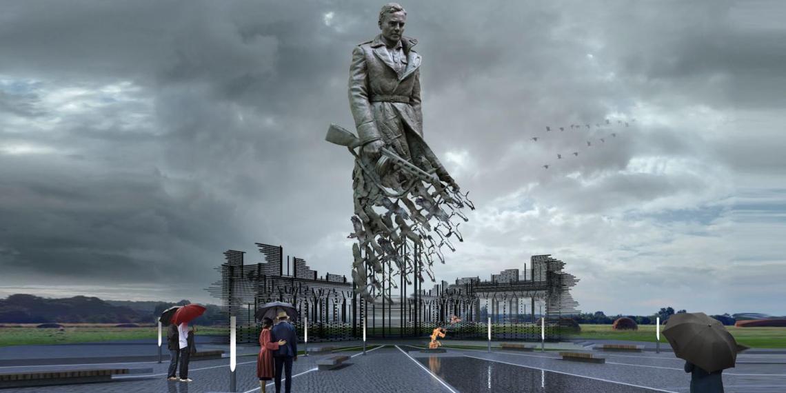 Памятник советскому солдату во Ржеве сняли с высоты птичьего полета
