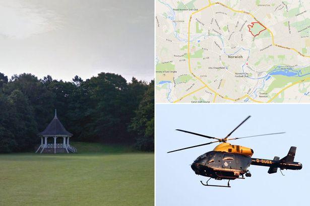 Полиция Норвича подняла вертолёт и отряд спецназа из-за юноши с пластиковым мачете