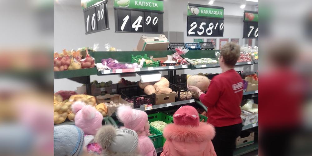 В Тверской области воспитанников детсада сводили на экскурсию в продуктовый магазин