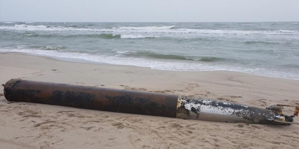 На калининградский пляж вынесло немецкую торпеду с 240 кг взрывчатки