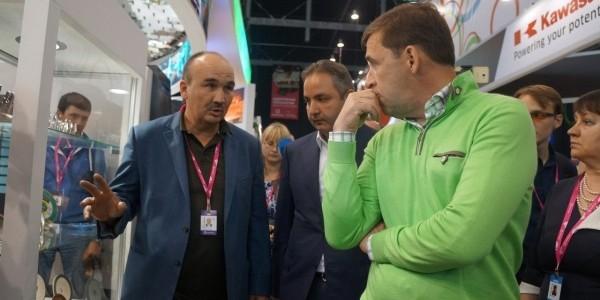 """Глава Свердловской области посетил выставку """"ИННОПРОМ-2017"""""""