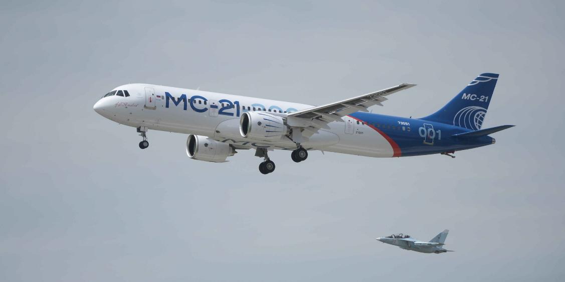 Российский самолет МС-21 прошел половину требуемых испытаний