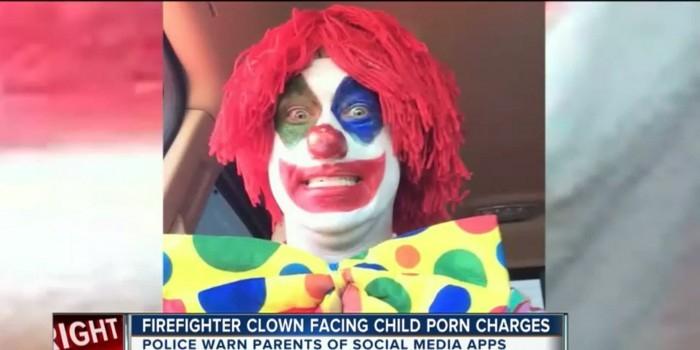 Клоуна-пожарного арестовали за детское порно и секс с собакой