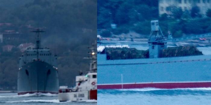 Два российских больших десантных корабля заметили на пути к Сирии