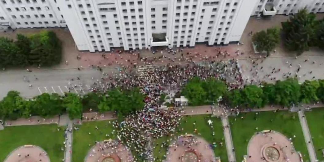 Протест пошел на спад: в несанкционированной акции в Хабаровске приняло участие около 6 тысяч человек