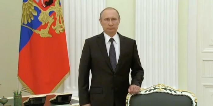 Путин выступил с обращением к народу Франции