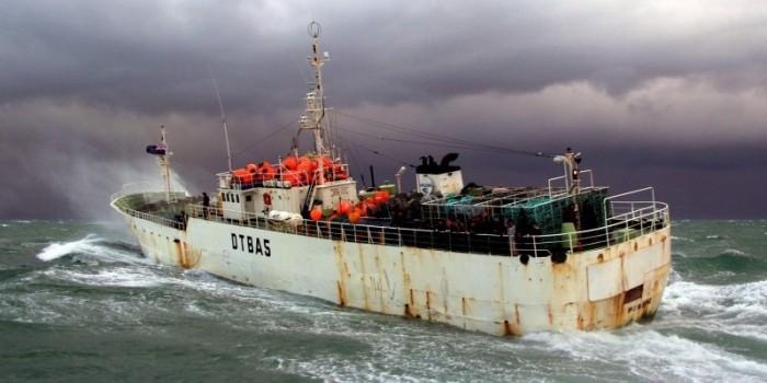 Американский крейсер столкнулся с корейскими рыбаками во время учений
