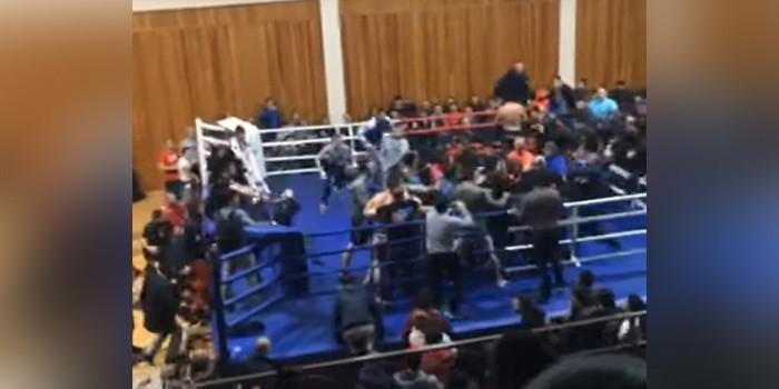Появилось видео массовой драки на чемпионате по единоборствам в Дагестане