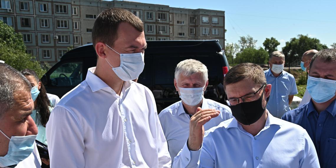 Дегтярев и Якушев проинспектировали стройки Хабаровска
