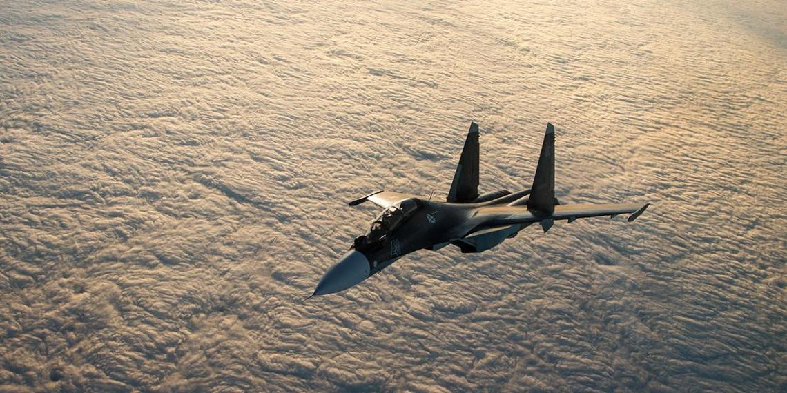 Появилось видео перехвата российским Су-30 трех самолетов НАТО над Черным морем