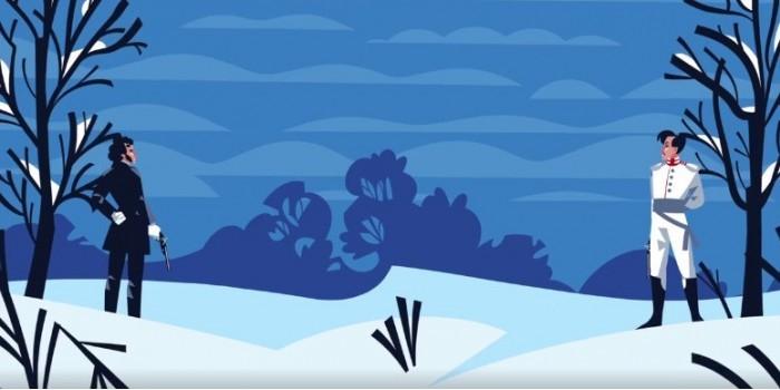 """""""Яндекс"""" в наглядном ролике показал влияние погоды на дуэль Пушкина и Дантеса"""