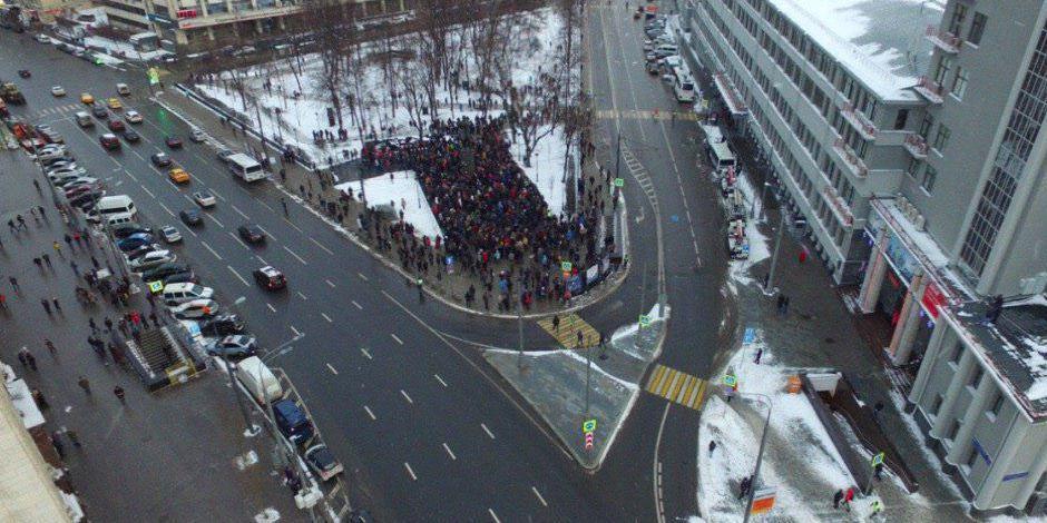 В несанкционированной акции Яшина приняли участие 300 человек